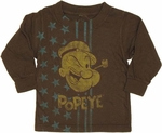 Popeye Stars Long Sleeve Infant T Shirt