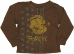 Popeye Stars Long Sleeve Toddler T Shirt