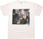 Popeye Tattoo Shop White T Shirt