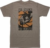Portal 2 For Science You Monster T-Shirt
