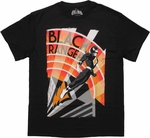 Power Rangers Black Art Deco T Shirt