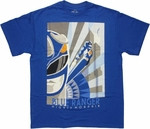 Power Rangers Blue Art Deco T Shirt