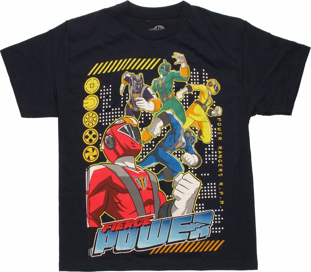 Power Rangers Fierce Power Youth T-Shirt