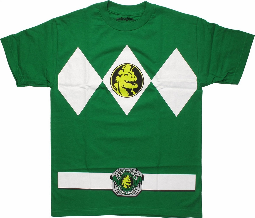 Power Rangers Green T-Shirt