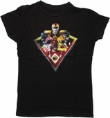Power Rangers Group On Point Baby Tee