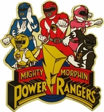 Power Rangers Group Over Logo Magnet