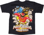 Power Rangers Megaforce Burst Juvenile T Shirt