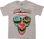 Power Rangers Megaforce Helmets Youth T Shirt