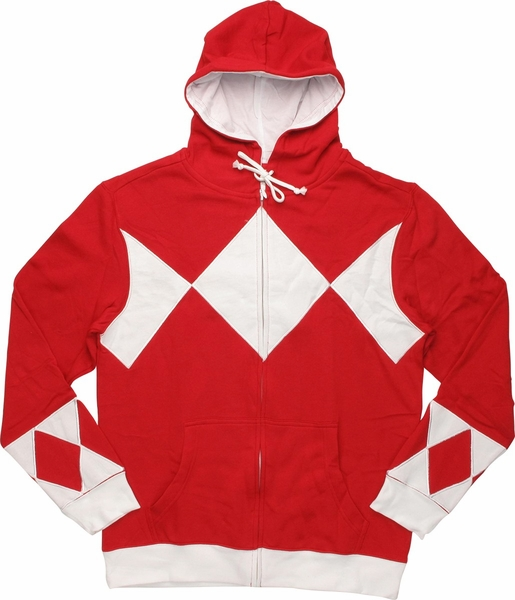 Power Rangers Red Costume Hoodie