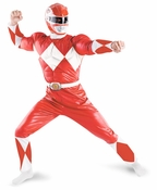 Power Rangers Red Ranger Adult Muscle Costume