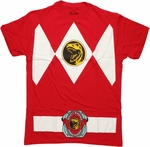 Power Rangers Red Uniform T Shirt