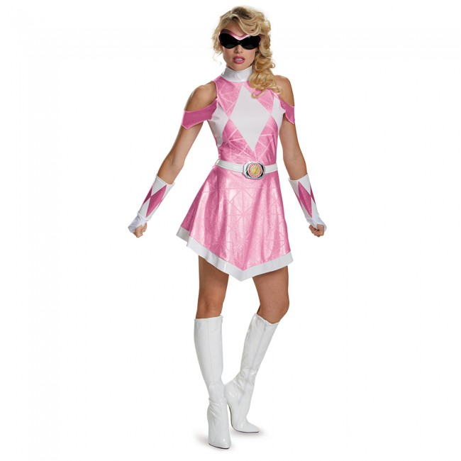 Adult Pink Power Ranger Costume eBay