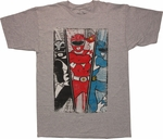 Power Rangers Triple Threat T Shirt Sheer