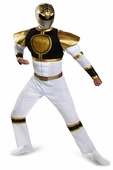 Power Rangers White Ranger Adult Muscle Costume