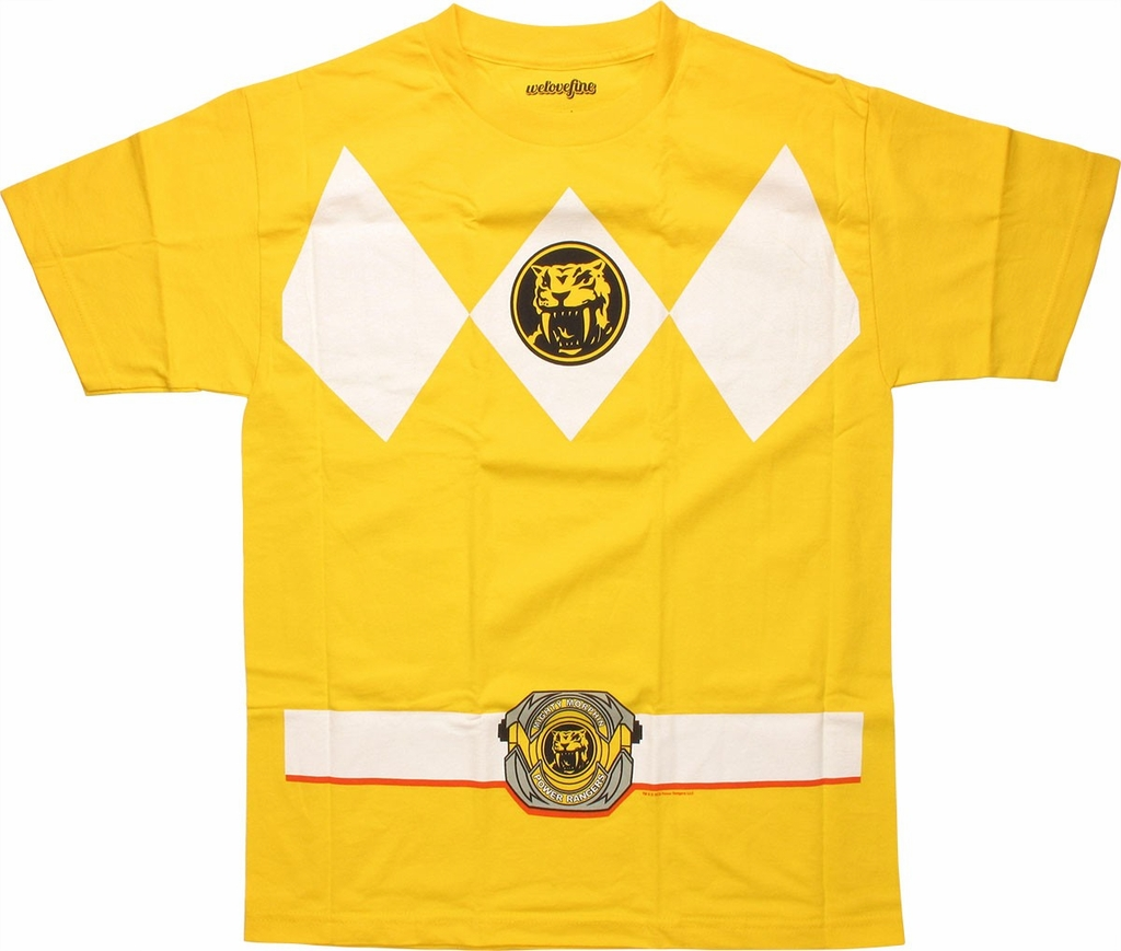 Power Rangers Yellow T-Shirt