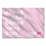 Pretty in Pink The List Pillow Case