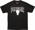 Punisher Block Name Logo T-Shirt