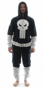 Punisher Costume Hooded Union Suit