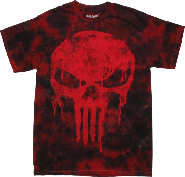 Punisher Drip Logo Tie Dye T Shirt