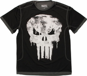 Punisher Dripping Skull Mesh T Shirt