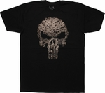 Punisher Gunfire Blasted Logo T-Shirt Sheer