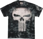 Punisher Skull Tie Dye T Shirt