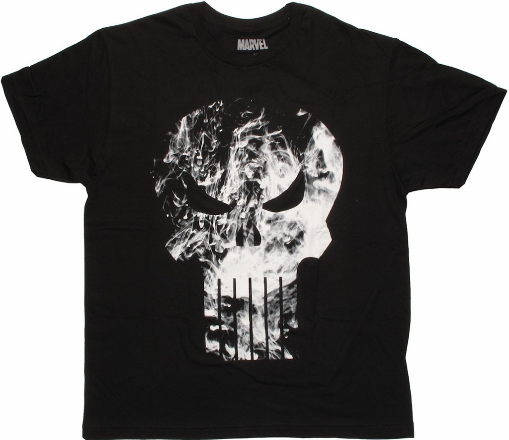 Punisher Smoky Logo T Shirt Sheer