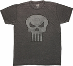 Punisher Vintage Skull Burnout T Shirt Sheer