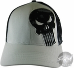 Punisher White Front Hat