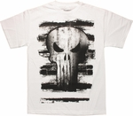 Punisher Whitewash Skull T Shirt