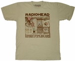 Radiohead Stops And Gawps T-Shirt Sheer