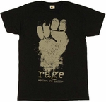 Rage Against the Machine Fist T-Shirt Sheer