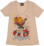 Rainbow Brite Just Dance Ladies Tee
