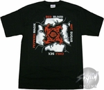 Red Hot Chili Peppers Group Fire T-Shirt