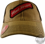 Red Stripe Name Hat