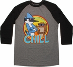 Regular Show Chill 3/4 Raglan T Shirt