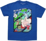 Regular Show Group Bars Youth T Shirt