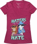 Regular Show Haters V Neck Baby Tee