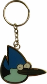 Regular Show Mordecai Head Metal Keychain