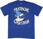 Regular Show Mustache Cash Stash T Shirt