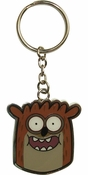 Regular Show Rigby Head Metal Keychain