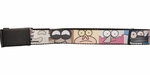 Regular Show Upclose Character Faces Square Mesh Belt