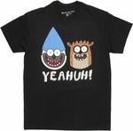Regular Show Yeahuh Faces T Shirt