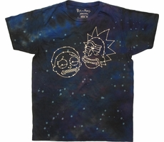Rick and Morty Constellation Faces Tie Dye T-Shirt Shirt of the Day