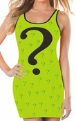 Riddler Costume Ringer Tank Top Dress