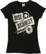 Rise Against Patches Baby Tee