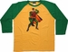 Robin Boy Wonder 3/4 Raglan Shirt Sheer