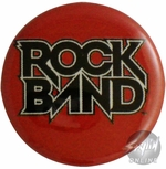 Rock Band Logo Button
