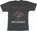 Rocky and Bullwinkle Canada T Shirt Sheer