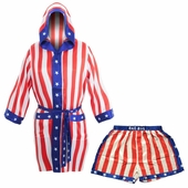 Rocky USA Flag Robe and Boxers Set